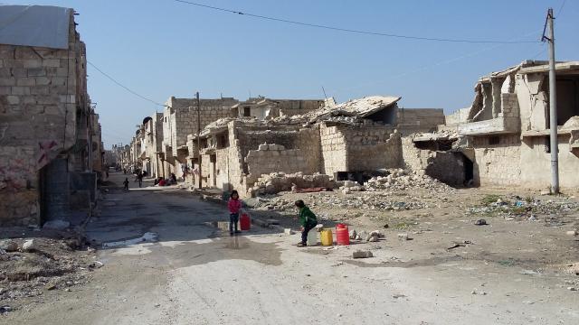 Verlaten wijken in Aleppo © mgr. Johan Bonny