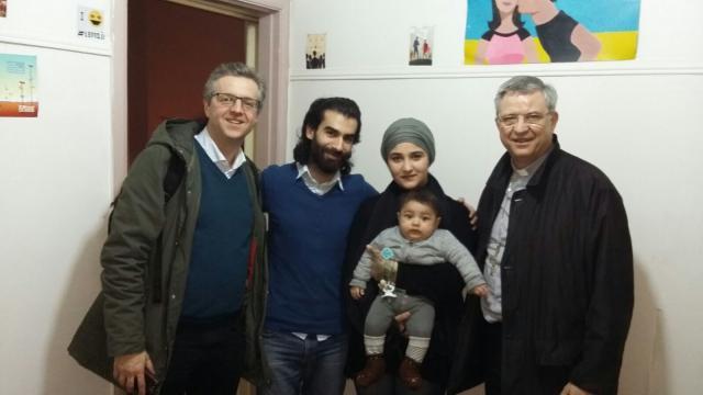 Mgr. Bonny bezocht in Beirut een gezin van Syrische vluchtelingen. © mgr. Johan Bonny
