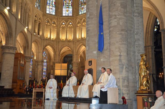 Te Deum-viering in de Brusselse kathedraal © Hellen Mardaga