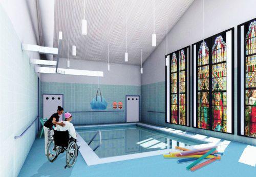 Het nieuwe zwembad in Terhulpen © infocatho.be