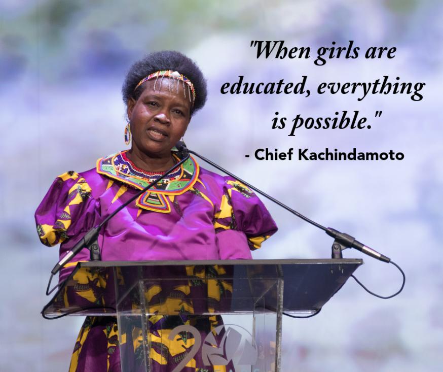 Theresa Kachindamoto, leider van een gemeenschap van 900.000 mensen in Malawi. © UN Women