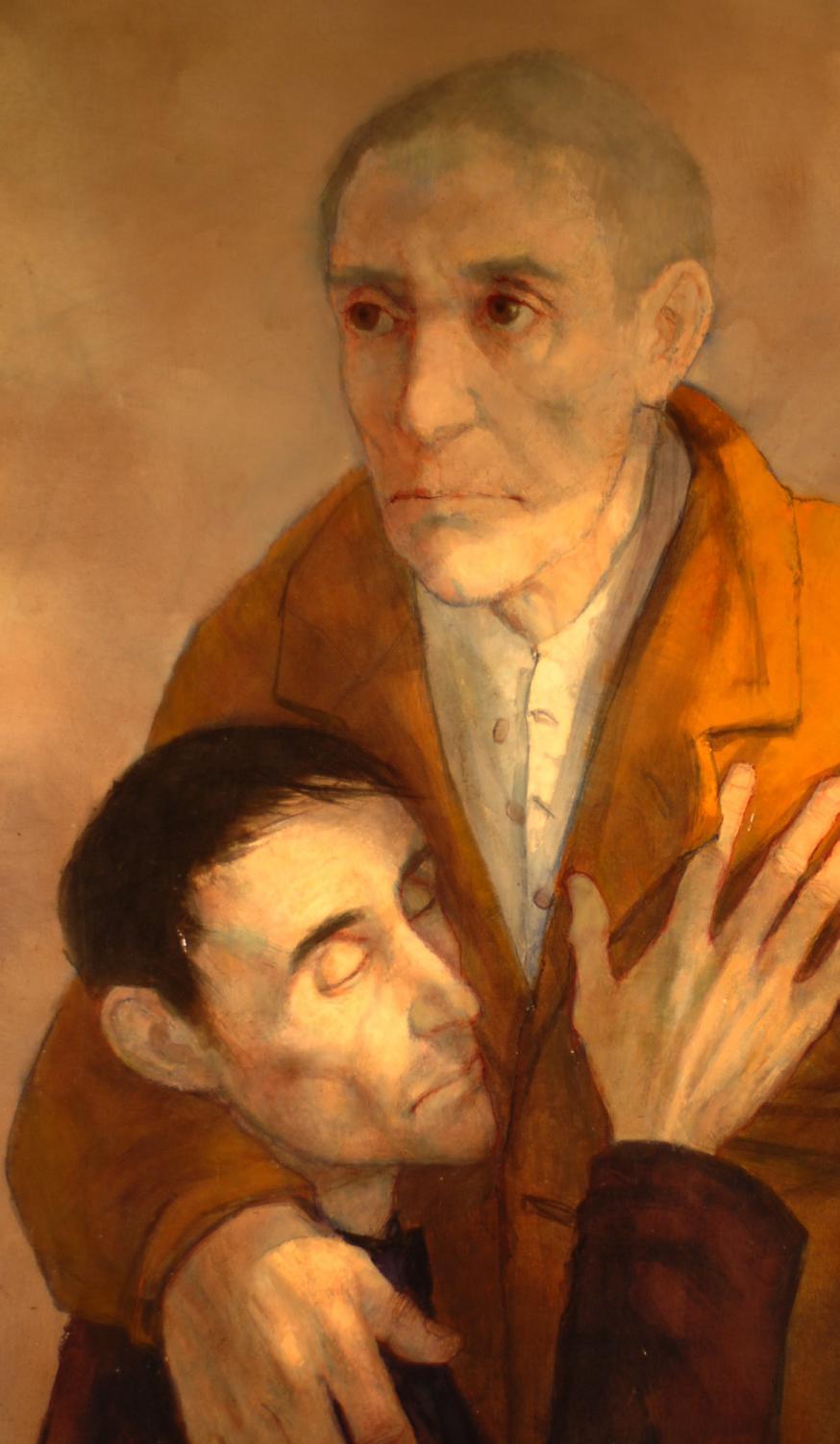 Le retour de l'enfant prodigue - M. Ciry, 1966, olieverf op schilderdoek, 161 cm op 97 cm. © BBK - M. Ciry
