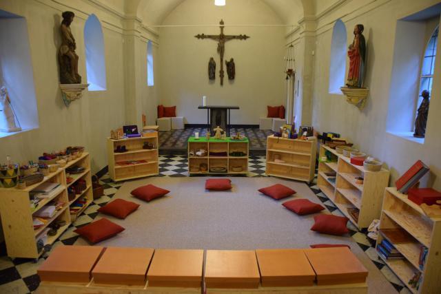 Godly Play ruimte in de Maria Magdalenakapel in Vaalbeek © Hilde Pex