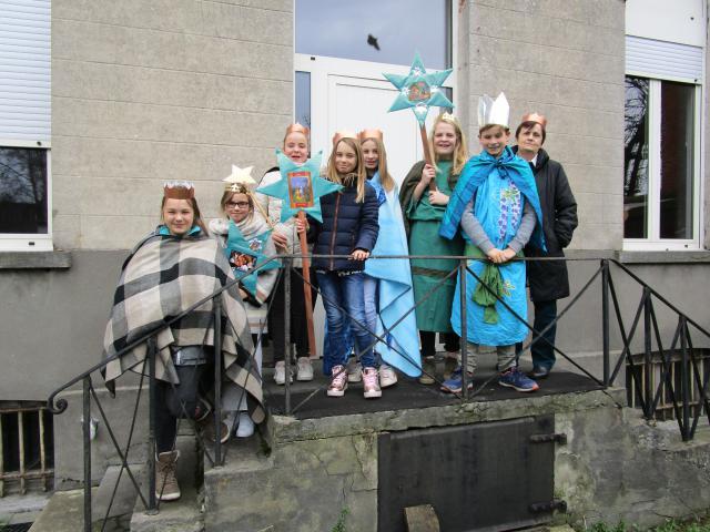 Als Driekoningen op bezoek bij de bewoners in het WZC Sint-Jozef Assenede