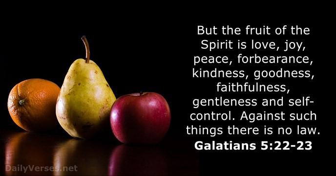 Vruchten van de Geest 7