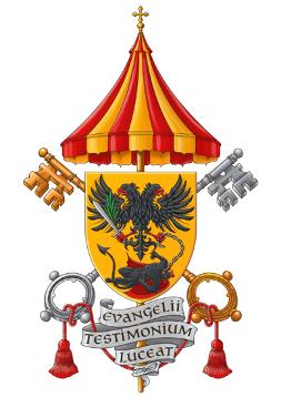 Het wapen van de Sint-Hermesbasiliek in Ronse © Kabinet Diependaele