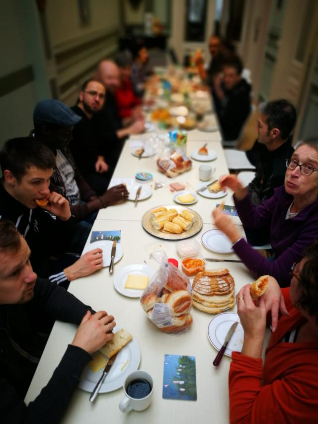 Lunch tijdens de klusdag