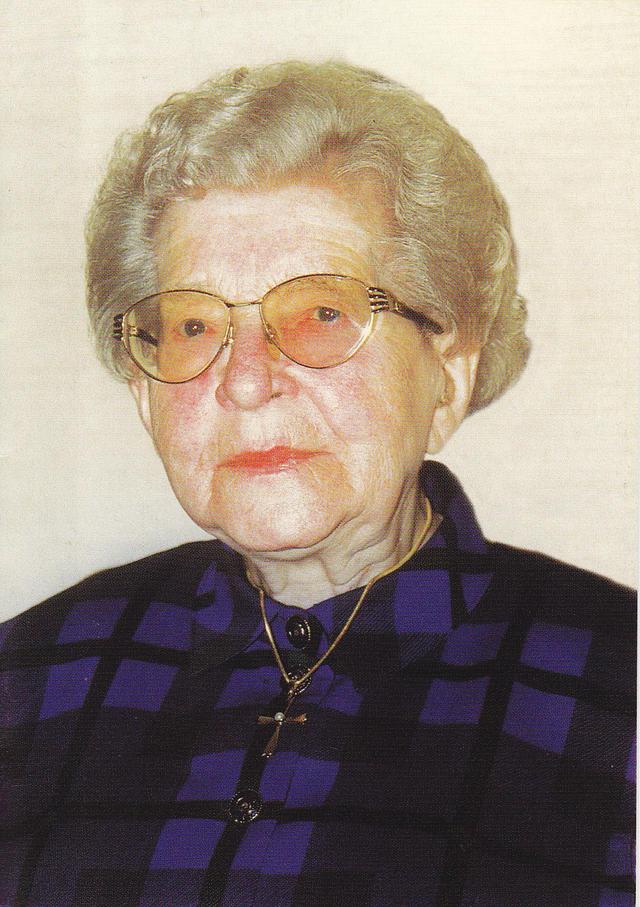 Yvonne Vanden Eynde (1911-2005) Bron: doodsprentje