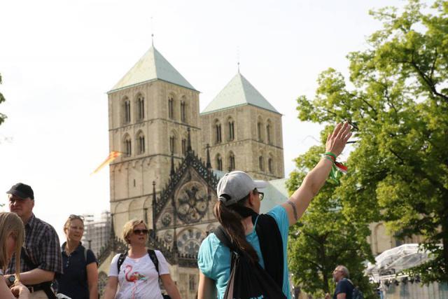 Op ontdekking in de historische binnenstad rond de kathedraal © katholikentag.de/Nadine Malzkorn