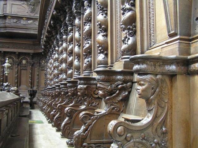 Barokke koorbanken in de Sint-Jacobskerk van Antwerpen © TOPA