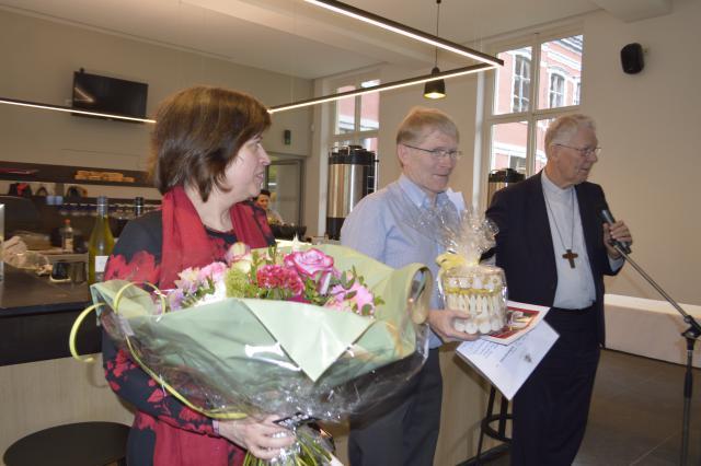 Eric Coryn en echtgenote  © Bisdom Gent, foto: Eveline Coppin