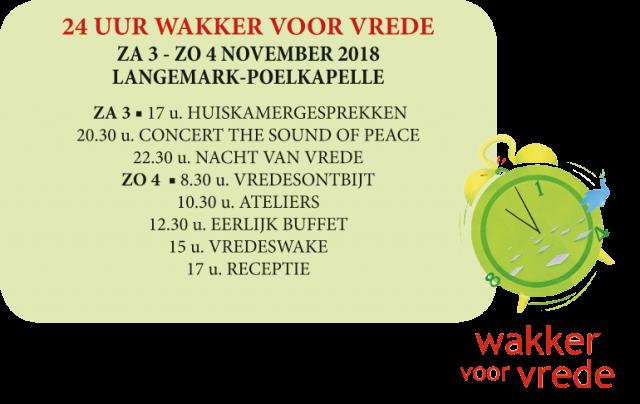 24 u wakker voor vrede © Wakker voor Vrede