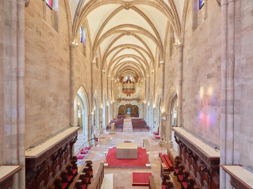 De vernieuwde abdijkerk van Tholey straalt. © FB Abdij Tholey
