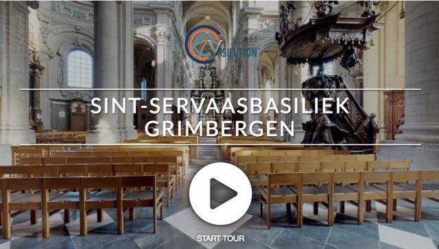 Bezoek de abdijkerk van Grimbergen virtueel. Klik op de foto door naar de website.