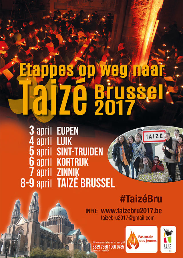 etappes op weg naar Taizé Brussel