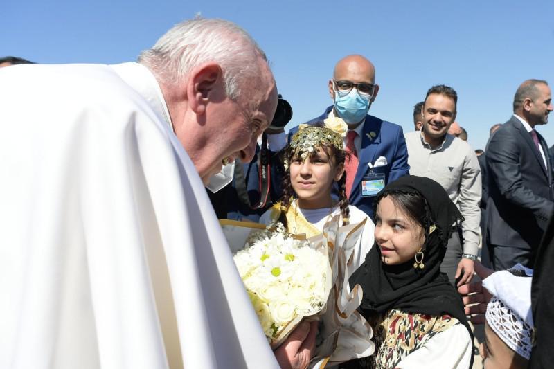 Er was vanmorgen bijzondere aandacht voor het lot van jezidi © Vatican Media