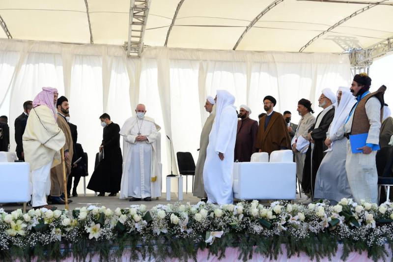 Interreligieuze plechtigheid met de paus in Ur © Vatican Media