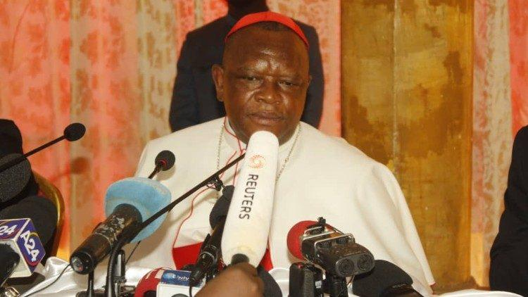 Kardinaal Fridolin Ambongo Besungu, aartsbisschop van Kinshasa © Vatican Media