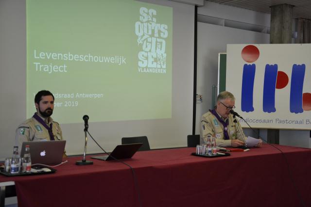 Bertrand Goethals en Werner Fierens van Vlaamse Scouts & Gidsen © Jeroen Moens