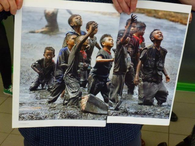 Bibliodrama. Studenten van Odisee kruipen in het hoofd van vluchtelingen. © Het Leerke