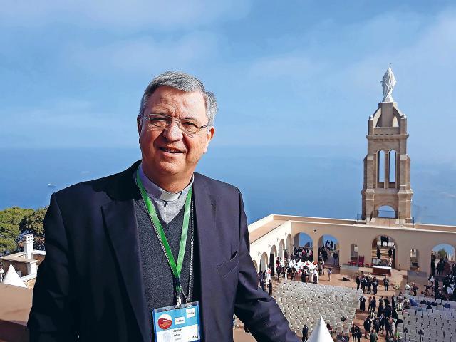Mgr. Bonny woonde de zaligverklaring van pater Charles Deckers bij in Oran in Algerije. © Mgr. Johan Bonny