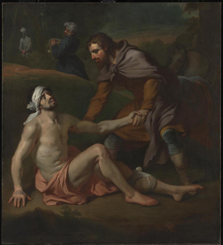 'The Good Samaritan' van Joseph Highmore © Tate Gallery Online