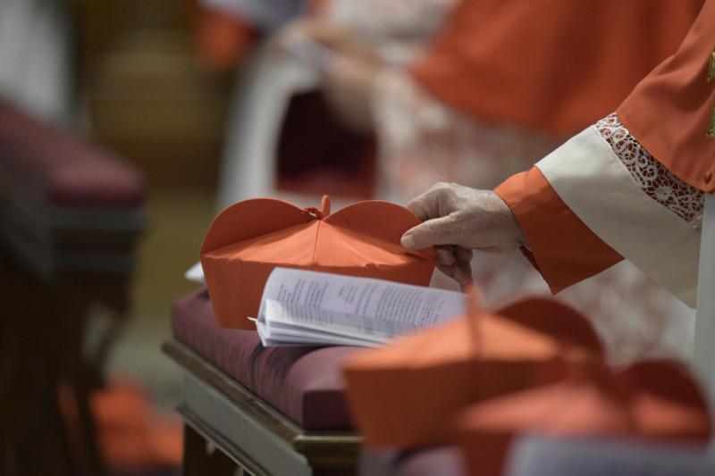 De nieuwe kardinalen kregen hun bonnet © Vatican Media