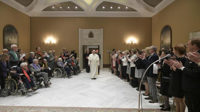Koor bij paus Franciscus © Vatican Media