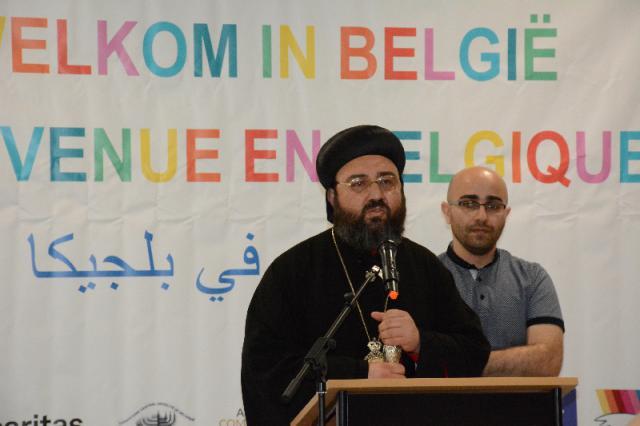Verwelkoming door de Syrisch-orthodoxe metropoliet Kourie © Sant'Egidio