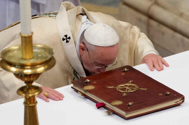 'Het Woord van God komt tot vervulling in de eredienst aan God.'