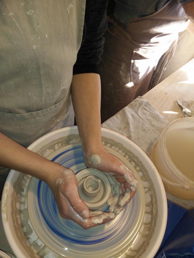 cool project op bezoek bij de pottenbakster