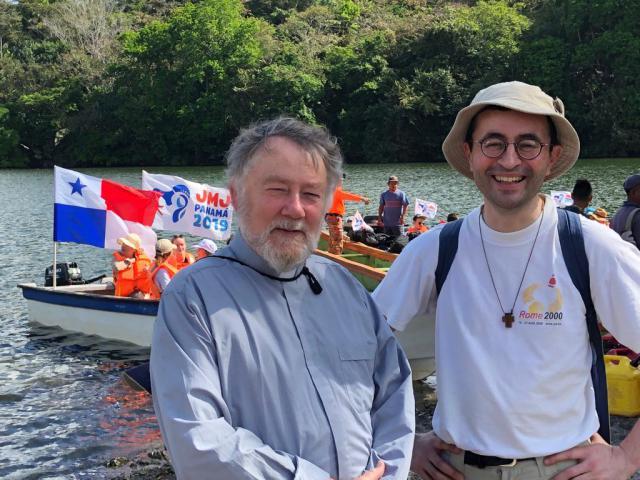Mgr. Jean Kockerols en Joris Polfliet (ICL). © Koen Van den Bossche