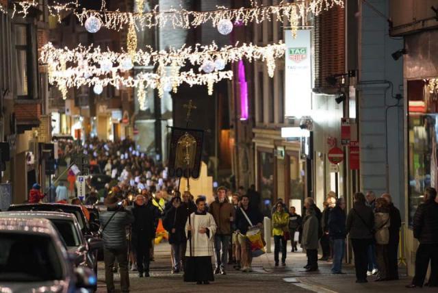 lichtprocessie © Stad Sint-Truiden