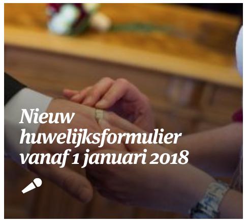 formulier huwelijk