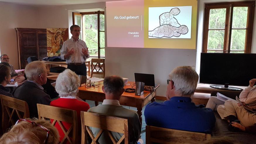 Een conferentie met Antoon Arens op de vakantie in 2019 © CCV in het bisdom Gent