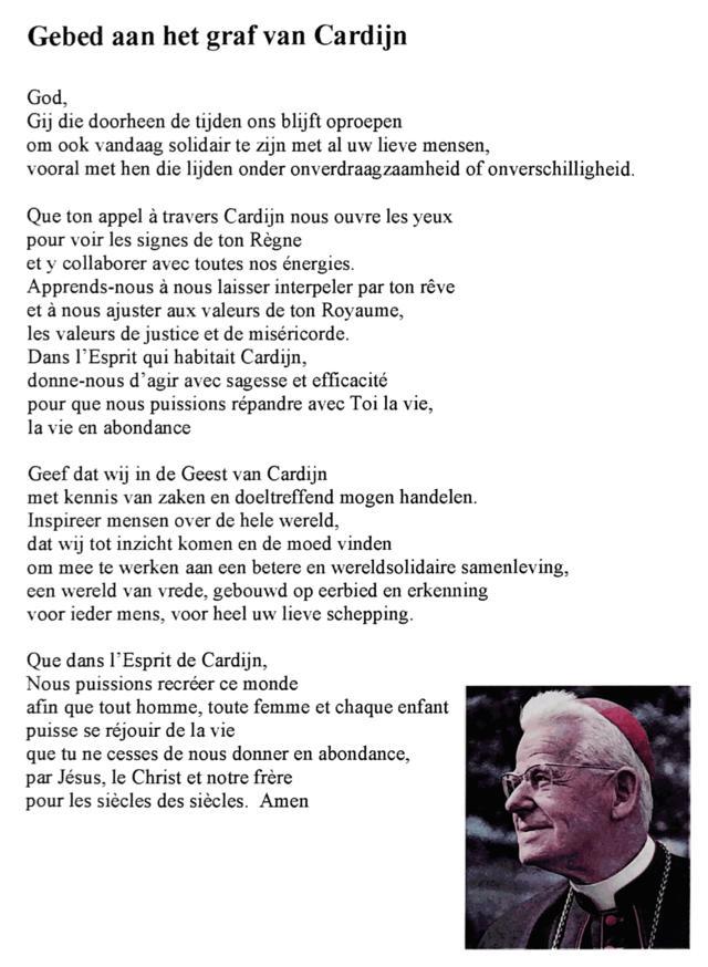 Gebed Jozef Cardijn