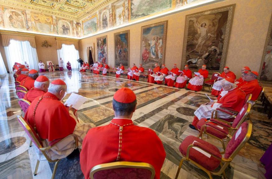 Gewoon openbaar consistorie © Vatican Media