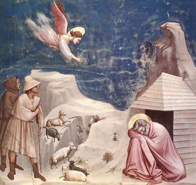 De Heer zendt een engel naar Joachim © Libreria Editrice Vaticana