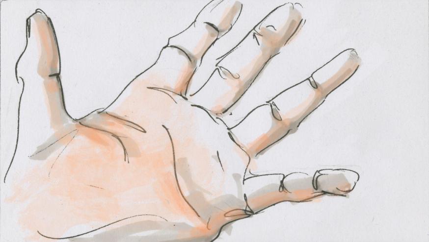 Handpalm © Bisdom Gent, tekening: Koen Van Loocke