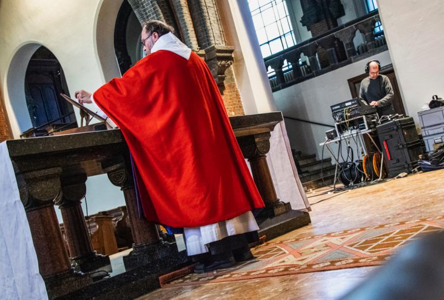 De viering van Palmzondag 2020 vanuit de abdij Keizersberg in Leuven © Abdij Keizersberg