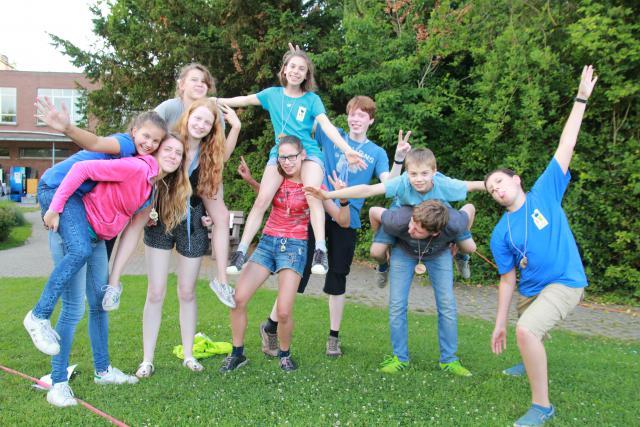 Milly en haar leefgroep op Pluskamp