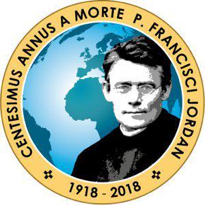 Logo honderdste verjaardag overlijden P. Frans Jordan