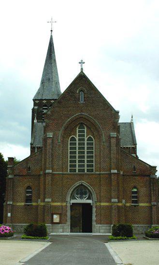Sint-Jozefskerk, Hutstraat, 1910 Kampenhout