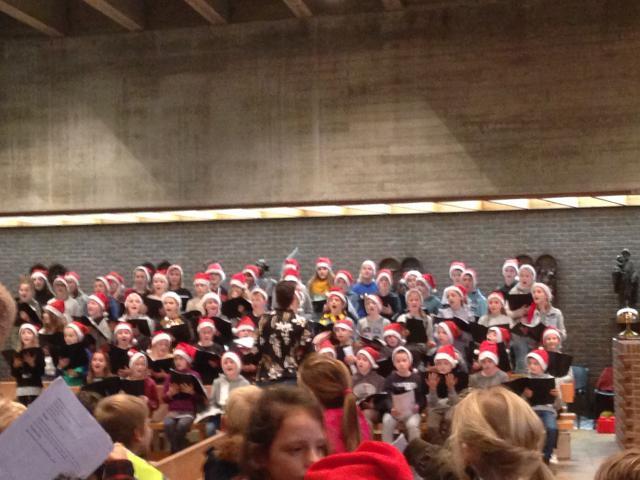 zang en muziek kerstviering basisschool Immaculata
