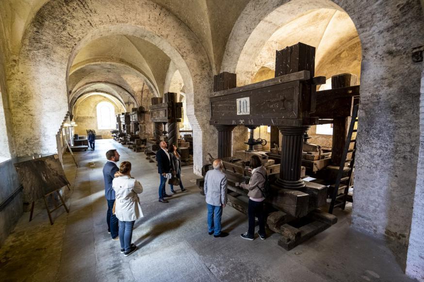 In het klooster kan je de eeuwenoude installaties bekijken. © Sven Moschitz / Pressebilder Kloster Eberbach