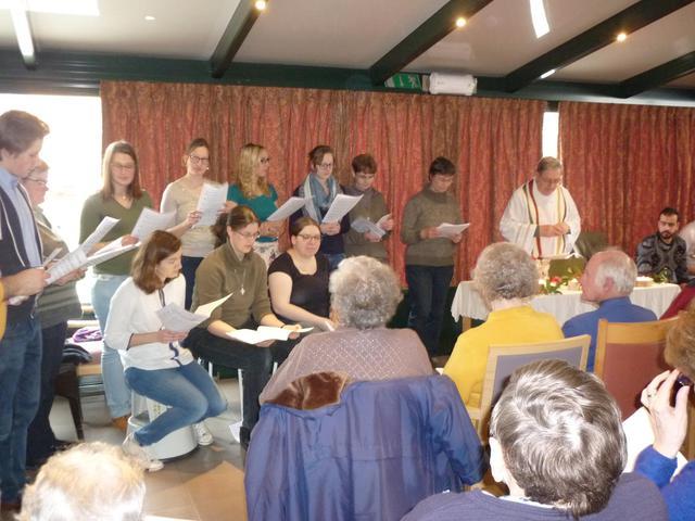 kerstviering zingen in WZC Home Claire