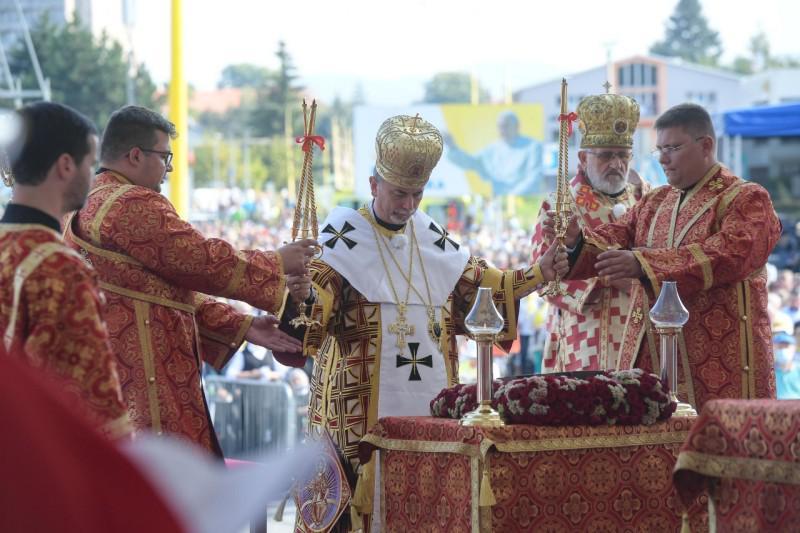 De liturgie verliep volgens de byzantijnse ritus © Vatican Media