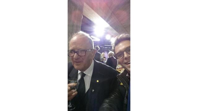 Selfie met auteur Leo Declerck