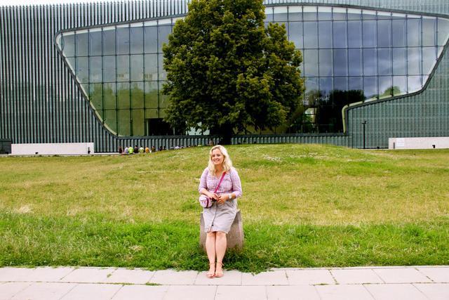 Magda, vrijwilliger bij POLIN in Warschau © IJD