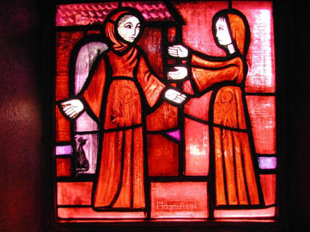 De zwangere Maria en Elisabeth © Taizé